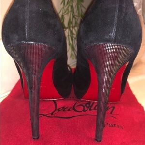 Christian Louboutin Shoes - Christian Louboutin Black Suede Heels